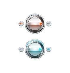 Round button set vector
