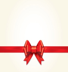 Red gift bows with ribbons vector