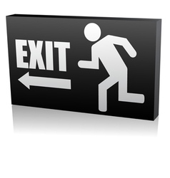 security exit icon vector image