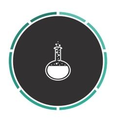 Chemistry computer symbol vector