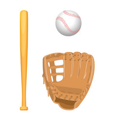 baseball equipment colorful flat set on vector image vector image