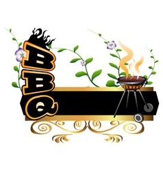 Bbq background vector