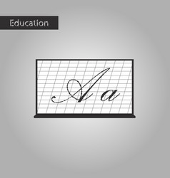 black and white style icon blackboard vector image