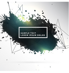 Black ink patch abstract background vector