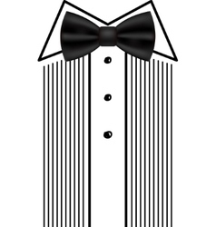 bow tie tuxedo invitation design template vector image