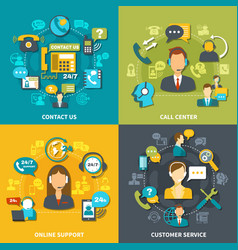 call center design concept vector image vector image