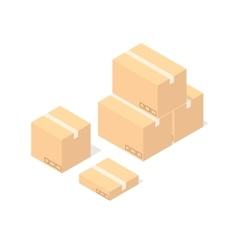 Cardboard Boxes Set vector image