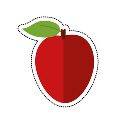 cartoon apple ripe fruit icon vector image vector image