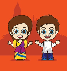 Cartoon asean philippines vector