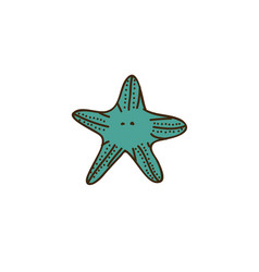 colorful starfish icon stock vector image