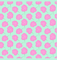 cotton candy floss seamless pattern vector image vector image