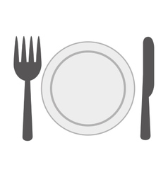 dish and cutlery isolated icon design vector image