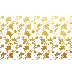 Flower golden foil design vector
