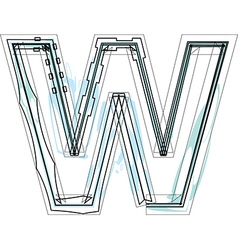 Font letter W vector image vector image