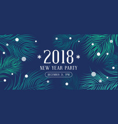 happy new year 2018 party invitation vector image vector image