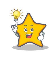Have an idea star character cartoon style vector
