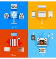 Heating and cooling flat vector image vector image