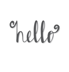 Hello hand lettering calligraphy vector
