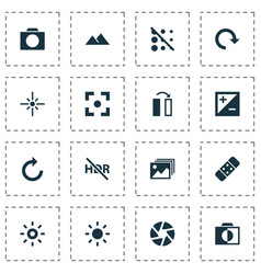Image icons set collection of mode capture vector