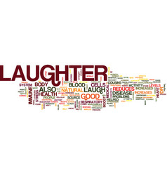Laughter is good for you text background word vector
