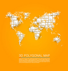 map 3d polygon art cube vector image vector image