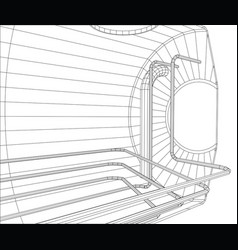 Oil tank wire-frame eps10 format created vector