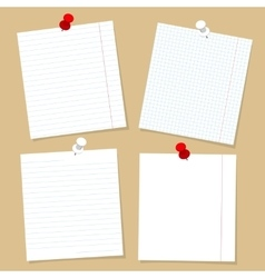 Paper for notes and buttons set vector image vector image