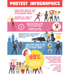 Protest actions infographics layout vector