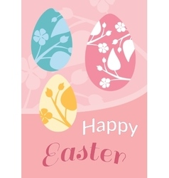 Set of brochure flyer layout easter vector