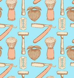 Sketch barber shop in vintage style vector image vector image