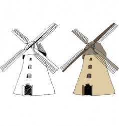 traditional dutch windmill vector image vector image