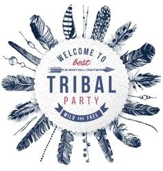 Tribal party emblem vector