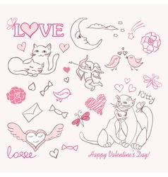 valentine sketch vector image