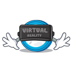 With virtual reality stellar coin character vector