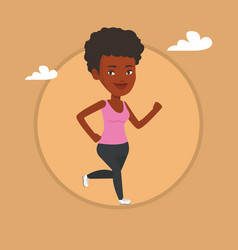 Young woman running vector