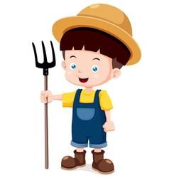 Little farmer vector image