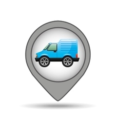 Mini truck map pointer graphic vector