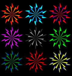 a set of nine complex geometric patterns vector image
