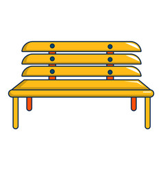 wooden bench icon cartoon style vector image