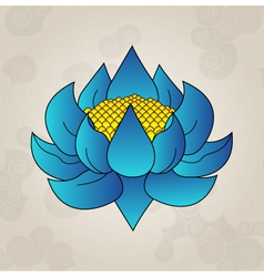 Blue lotus japanese tattoo vector image