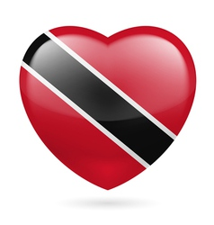 Heart icon of trinidad and tobago vector