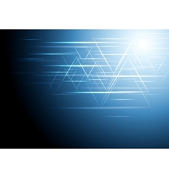 Abstract dark blue tech design vector image