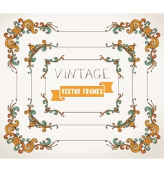 Set of calligraphic vintage frames vector