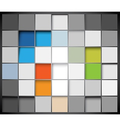 abstract squares background vector image