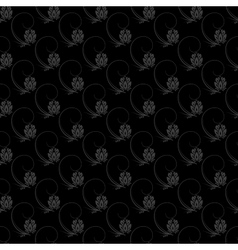 Dark floral nature seamless pattern design vector