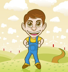 Farmer cartoon character vector