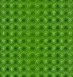 Knitted seamless green background vector