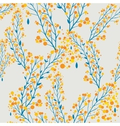 Autumn pattern in retro style vector