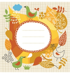 autumnal theme vector image