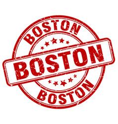 Boston stamp vector